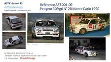 DECAL 1 43 PEUGEOT 309 GTI N°20 DELECOUR Rally WRC MONTE CARLO 1990 MONTECARLO