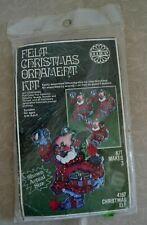 Felt Ornaments Craft Kit, Set of 3, Nip, Holiday #4167 Christmas Elf