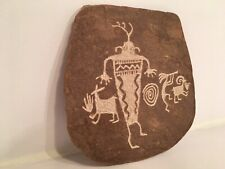 Kokopelli Petroglyph Cave Art Style Stone Carving Signed By (Marty?) KATON