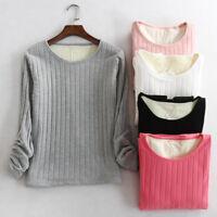Women's Fur Lined Thicker Velvet Long Sleeve Shirt Slim Fit Thermal Tops Blouse