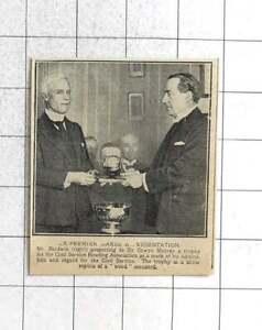 1924 Mr Baldwin Presenting Trophy To Oswyn Murray, Bowling Association