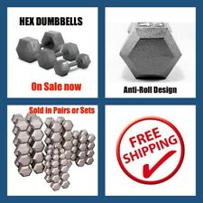 1kg Pair Steel Hex Dumbbell 2kg Weight Set - Gym Workout  Training Dumbbell Set