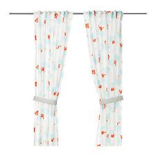 IKEA STJARNBILD - Pair of Curtains 2 Panels Window Treatment Children White
