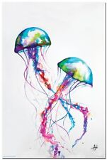Marc Allante - Jellyfish POSTER 61x91cm NEW watercolor deco art print