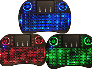 Blacklight Wireless Keyboard Mouse Combo Touchpad Touch Fly Air Mouse light