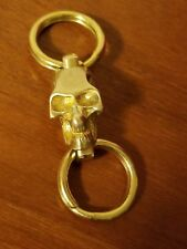 EDC Brass Keychain Carabiner Key Ring with Brass Skull