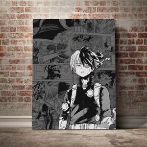 13*18CM Home Decor Canvas Wall Art Paints Shoto Todoroki My Hero Academia Prints