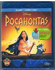 POCAHONTAS DISNEY BLU-RAY DISC + E-COPY SIGILLATO!!!