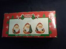 3 Pcs. Santa Bell Ornaments