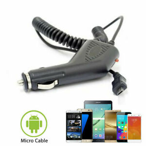 Micro USB Car Charger 12V DC Power Charging Cable Lead for Android Mobile Phones