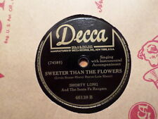 DECCA 78 RECORD 46139/SHORTY LONG/I LOVE YOU SO MUCH IT HURTS/SWEETER FLOWERS/EX