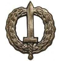 CZECHOSLOVAKIA ARMY BRASS COMBINED ARMS PINS INSIGNIA SWORD BADGES, COMBAT PINS