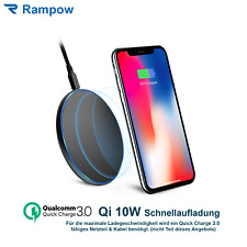 RAMPOW Qi Wireless Fast Charger Quick Charge 3.0 Ladestation Kabellos Ladegerät