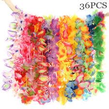 36pc Hawaiian Tropical Beach Theme Luau Party Flower Necklace Garland Lei Leis