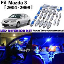 8x Blue LED Interior Lights Package Kit For 2004 - 2006 2007 2008 2009 Mazda 3