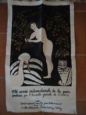 Juliette RAMADE Sérigraphie 1986 Année Internationale de la Paix ONU Dédicacée