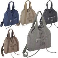 2 in 1 Rucksack Tasche Damen City Daypack sehr leicht Nylon bequem- in 6 Farben