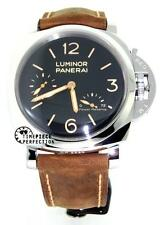 Panerai LUMINOR 1950 Pam 423 47mm 3 Days Power Reserve Brown Leather Wristwatch