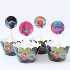 TROLLS Cupcake Toppers / Cake Toppers and wrappe / Birthday Party Decoration