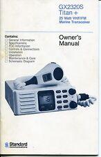"1988 Vintage Manual: ""STANDARD"" 25W VHF/FM Marine Transceiver"