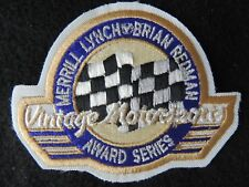 Brian Redman -Merrill Lynch Vintage Motorsports Award Series New Cloth Patch