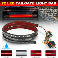 Truck Tailgate RV 72 LED Strip Bar Stop Brake Turn Signal Rear Tail Light 12V