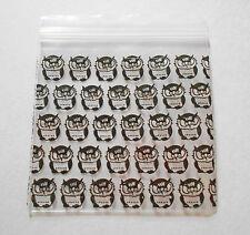200 Black Owl Bags 2x2 (Small Plastic Baggies) 2020 Mini Ziplock Poly Dime Bag