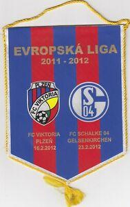 Football pennant Viktoria Plzen vs Schalke 04 UEFA Europa League 2012