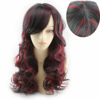 Lady Long Black Blonde Brown Red Straight Curly Wavy Wig Hair Cosplay Full Wig