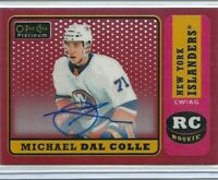 2018-19 O-pee-chee Platinum Retro Rookie Red Rainbow Auto Michael Dal Colle