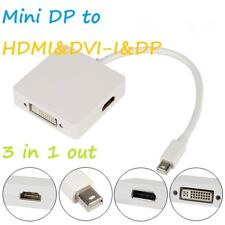 3 in1 Mini Display Port DP a HDMI + DVI + Cable de DP Adaptador Para Macbook/Pro/Air/Imac