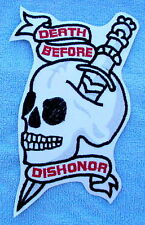 DEATH BEFORE DISHONOR  Biker Motorcycle Back Patch by DIXIEFARMER