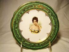 "Carlsbad China Madame De Recamier Portrait Cabinet Plate 6 1/2"" dia c.1884-1914"