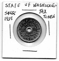 (J) 1935 State of Washington 10 cents sales Tax Token