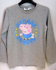 MAGLIETTA GEORGE ( Peppa Pig )- T-Shirt Manica Lunga  ANNI 7/8 -ORIGINALE
