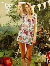 White Stuff 'Pretty Pattern Top' shirt, cotton summer NEW rrp £39.00 8 10 12 14