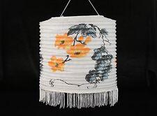 "11.5"" Chinese Japanese Paper Lantern Orange Flowers Wedding Decor"