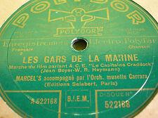 78 trs-rpm-MARCEL'S - Les gars de la marine   Polydor 522168 - CARRARA