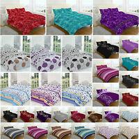 Duvet Cover Set Double Super King Size Single Designer Prints New Bedding Floral