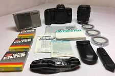 CANON EOS 10S 35 MM W/ 28-70mm + Filters + Manual + Barcode Reader E