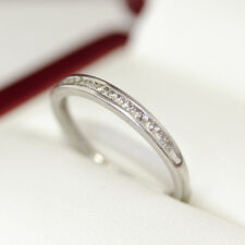 A platinum Vintage diamond eternity ring with 12 diamonds channel set