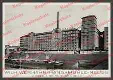 Werhahn Hansamühle Neuss Rhein Plangemühle Getreide Frachtschiffe Hafen Lkw 1938