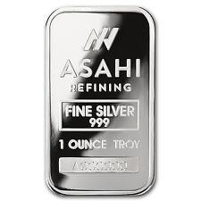 1 oz Silver Bar - Asahi (Serialized) - SKU #90497