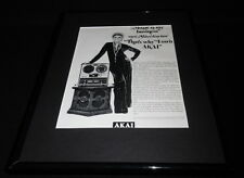 Mitzi Gaynor 1971 Akai GX-280D Tape Deck Framed 11x14 ORIGINAL Advertisement