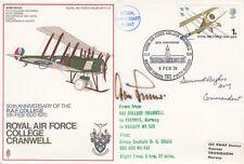RAF Cranwell Signed A Galland Luftwaffe,D Hughes Both Battle of Britain