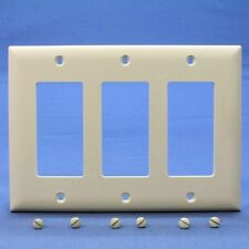 P&S Light Almond Trademaster� 3-Gang Decorator Nylon Wallplate Cover TP263-LA