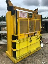 "GPI M60MD Yellow Low Profile Vertical 60"" Cardboard Plastic Baler Crusher Bales"