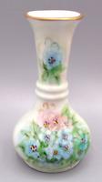 Vintage Small Hand Painted Porcelain Floral Flower Pink Blue White Bud Vase