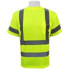 Hi Visibility shirt, short sleeved, ANSI Class 3, Sz:Large P/N:GLO-017-L