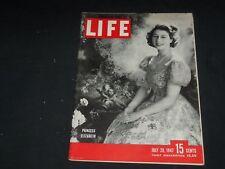 1947 JULY 28 LIFE MAGAZINE - PRINCESS ELIZABETH - L 559